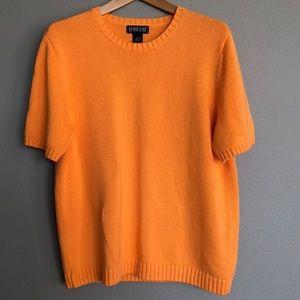 Lands End Short Sleeve Jewel Sweater (Large)